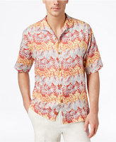 Tommy Bahama Men's Lino Vines Linen Palm-Print Stripe Short-Sleeve Shirt