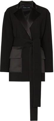Michael Lo Sordo Deconstructed Belted Blazer