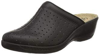 Ladies Leather Pepperpot Mule - - size UK Ladies Size 5