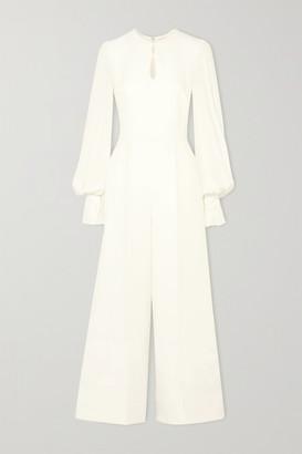 Roksanda Aunya Cady And Crepe Jumpsuit - Ivory
