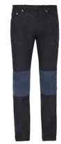 Balenciaga Bi-colour denim skinny jeans