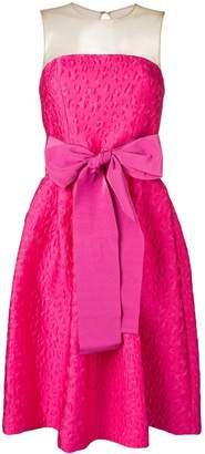 P.A.R.O.S.H. bow detail jacquard dress