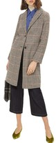 Topshop Women's Bonded Check Coat