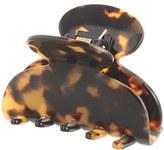 J.Crew Rounded hair clip in Italian tortoise