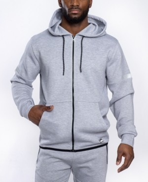 Southpole Men's Premium Power Fleece Full Zip Hoodie