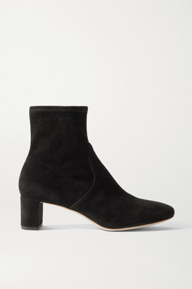 Loeffler Randall Cynthia Suede Ankle Boots - Black