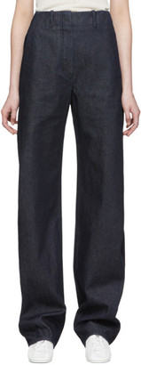 Lemaire SSENSE Exclusive Navy Large Twisted Jeans