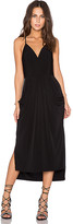 BCBGeneration Crossover Midi Dress in Black. - size L (also in M,S,XS)