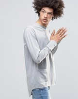 Cheap Monday Curb Long Sleeve Top Side Pocket Curve Tail