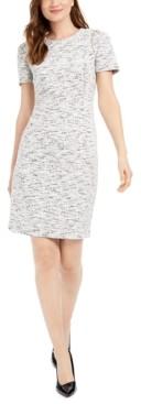 Calvin Klein Stretch-Tweed Sheath Dress