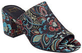 Marc Fisher Rain Floral-Print Block Heel Mules