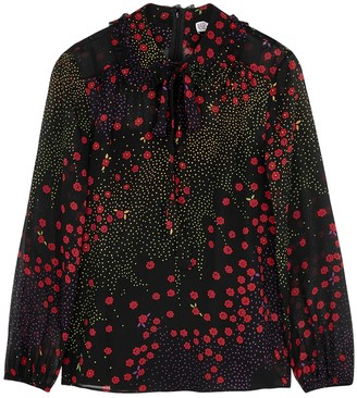 RED Valentino Printed chiffon blouse