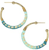 Thumbnail for your product : Gas Bijoux Bako 24K Goldplated & Raffia-Wrapped Hoop Earrings
