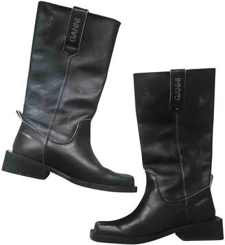 Ganni Fall Winter 2019 Black Leather Boots