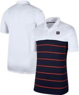 Nike Men's White/Navy Virginia Cavaliers Striped Polo