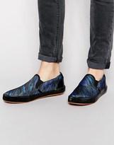 Paul Smith Jeans Brontis Slip On Plimsolls - Blue