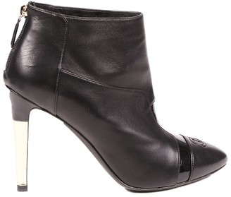 Chanel Women's Leather Bootie, Size 40.5
