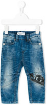 John Galliano logo print jeans