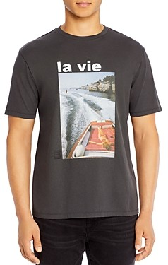 Frame La Vie Cotton Graphic Tee