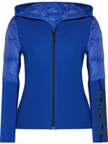 Fendi Roma Stretch-jersey And Quilted Shell Down Jacket - Bright blue