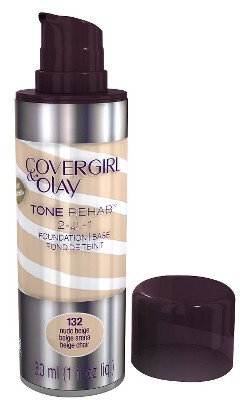 Cover Girl & Olay Tone Rehab 2-In-1 Foundation - Nude Beige 132