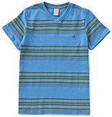 Calvin Klein Big Boys 8-20 Striped V-Neck Tee
