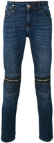 Philipp Plein zipped knee skinny jeans - men - Cotton/Spandex/Elastane - 30