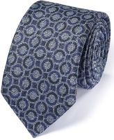 Charles Tyrwhitt Mid Blue Linen Mix Italian Luxury Circle Tie