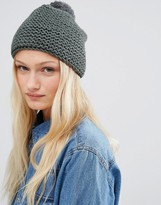 Hat Attack Knit Beanie With Knit Pom