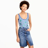 J.Crew Striped tank top with sequin palm leaves