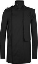 Rick Owens Black Stretch Cotton Trench Coat