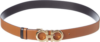 Salvatore Ferragamo Gancini Buckle Reversible & Adjustable Leather Belt