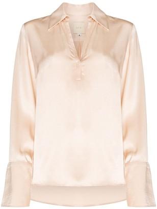 Usisi Sister Catarina split sleeve satin blouse