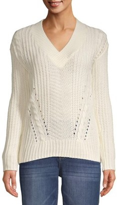 Willow & Wind Women's Chunky V-Neck Pullover Sweater