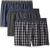 Kenneth Cole New York Men's Woven Boxer Set Box Plaid