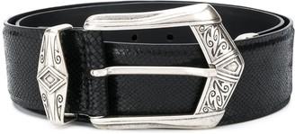 IRO Joan snakeskin-effect belt