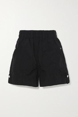 Ganni Crinkled Shell Shorts - Black