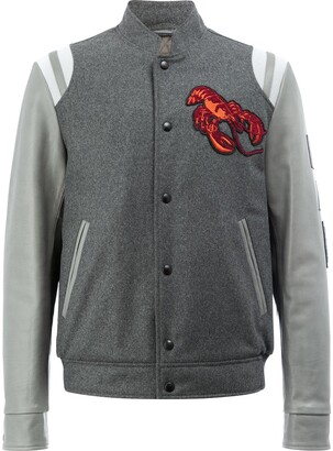 Lanvin lobster embroidered Baseball jacket
