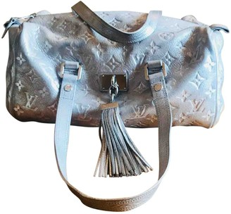 Louis Vuitton Speedy Silver Leather Handbags