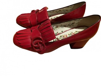 Gucci Marmont Red Leather Flats
