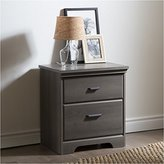 Pemberly Row 2-Drawer Night Stand in Gray Maple