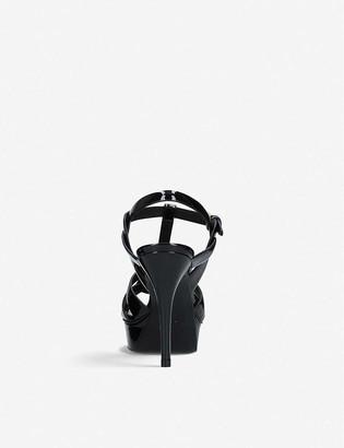 Saint Laurent Tribute patent-leather platform sandals