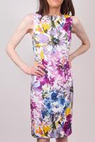 Chetta B Abstract Print Dress