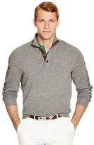 Ralph Lauren Suede-Trim Wool-Blend Sweater