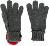 Dolce & Gabbana knitted gloves - kids - Rabbit Fur/Polyester/Virgin Wool - 15.5 cm