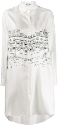 Lanvin Cityscape Shirt Dress