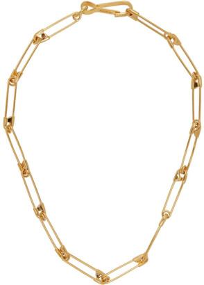 Balenciaga Gold Punk Necklace
