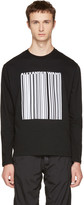 Alexander Wang Black Long Sleeve Barcode T-Shirt