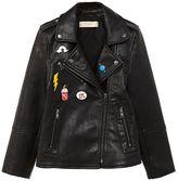 MANGO Girls Applique Biker Jacket