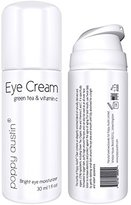 Fine Lines Best Eye Cream for Dark Circles & Puffiness by Poppy Austin - DOUBLE SIZED 1 oz - 100% Natural Eye Cream with Organic Moisturizers - Enriched with Green Tea, Vitamin C, Rosehip & Organic JoJoba Oil